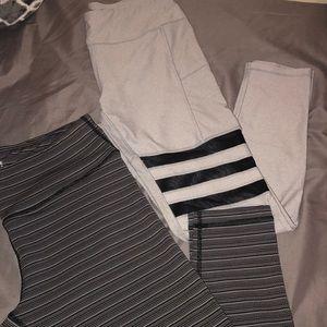 2 athletic leggings bundle
